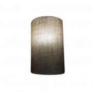 Arandela Meia Cana Md-2031 Cúpula em Tecido 30/18x16cm Rustico Bege - Bivolt