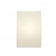Arandela Retangular Retro Md-2029 Cúpula em Tecido 18x10x30cm Branco - Bivolt