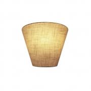 Arandela Retro Cone Md-2001 Cúpula em Tecido 25/26x13cm Rustico Bege - Bivolt
