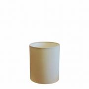 Cúpula Abajur Cilíndrica Cp-7001 Ø13x15cm - Algodão Crú