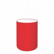 Cúpula Abajur Cilíndrica Cp-7002 Ø13x30cm Vermelho