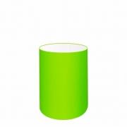 Cúpula Abajur Cilíndrica Cp-7003 Ø15x20cm Verde Limão