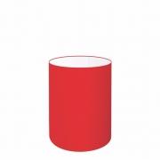 Cúpula Abajur Cilíndrica Cp-7003 Ø15x20cm Vermelho