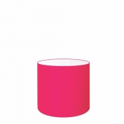 Cúpula Abajur Cilíndrica Cp-7005 Ø18x18cm Rosa Pink