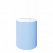 Cúpula Abajur Cilíndrica Cp-7006 Ø18x25cm Azul Bebê