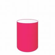 Cúpula Abajur Cilíndrica Cp-7006 Ø18x25cm Rosa Pink
