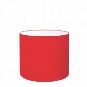 Cúpula Abajur Cilíndrica Cp-7016 Ø35x30cm Vermelho