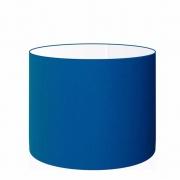Cúpula Abajur Cilíndrica Cp-7017 Ø40x21cm Azul Marinho