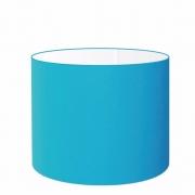 Cúpula Abajur Cilíndrica Cp-7017 Ø40x21cm Azul Turquesa
