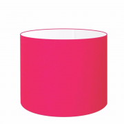 Cúpula Abajur Cilíndrica Cp-7017 Ø40x21cm Rosa Pink