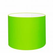 Cúpula Abajur Cilíndrica Cp-7017 Ø40x21cm Verde Limão