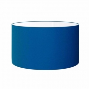 Cúpula Abajur Cilíndrica Cp-7024 Ø50x25cm Azul Marinho