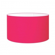 Cúpula Abajur Cilíndrica Cp-7025 Ø50x30cm Rosa Pink