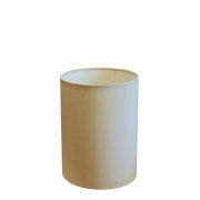 Cúpula Abajur Cilíndrica Cp-8002 Ø13x30cm Algodão Crú