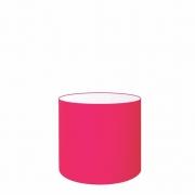 Cúpula Abajur Cilíndrica Cp-8005 Ø18x18cm Rosa Pink