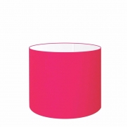Cúpula Abajur Cilíndrica Cp-8009 Ø25x20cm Rosa Pink