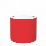 Cúpula Abajur Cilíndrica Cp-8013 Ø30x30cm Vermelho