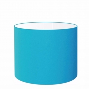 Cúpula Abajur Cilíndrica Cp-8020 Ø45x21cm Azul Turquesa