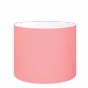 Cúpula Abajur Cilíndrica Cp-8022 Ø45x30cm Rosa Bebê