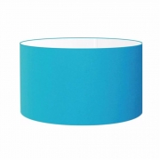 Cúpula Abajur Cilíndrica Cp-8025 Ø50x30cm Azul Turquesa