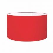Cúpula Abajur Cilíndrica Cp-8025 Ø50x30cm Vermelho