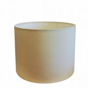 Cúpula Abajur e Luminaria em Tecido Cilíndrica Vivare Cp-8017 Ø40x21cm - Bocal Europeu