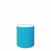 Cúpula em Tecido Cilindrica Abajur Luminária Cp-2009 13x15cm Azul Turquesa