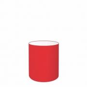 Cúpula em Tecido Cilindrica Abajur Luminária Cp-2009 13x15cm Vermelho