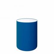 Cúpula em Tecido Cilindrica Abajur Luminária Cp-4012 18x25cm Azul Marinho
