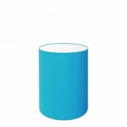 Cúpula em Tecido Cilindrica Abajur Luminária Cp-4012 18x25cm Azul Turquesa