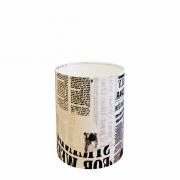 Cúpula em Tecido Cilindrica Abajur Luminária Cp-4012 18x25cm Ny-Jornal