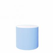Cúpula em Tecido Cilindrica Abajur Luminária Cp-4046 18x18cm Azul Bebê