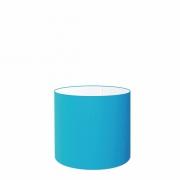 Cúpula em Tecido Cilindrica Abajur Luminária Cp-4046 18x18cm Azul Turquesa