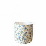 Cúpula em Tecido Cilindrica Abajur Luminária Cp-4046 18x18cm Estampa Azul