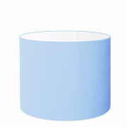 Cúpula em Tecido Cilindrica Abajur Luminária Cp-4099 40x25cm Azul Bebê
