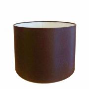 Cúpula em Tecido Cilindrica Abajur Luminária Cp-4099 40x25cm Café