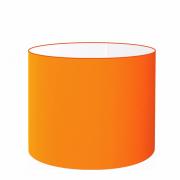 Cúpula em Tecido Cilindrica Abajur Luminária Cp-4099 40x25cm Laranja