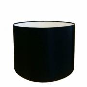 Cúpula em Tecido Cilindrica Abajur Luminária Cp-4099 40x25cm Preto