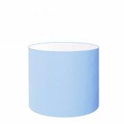 Cúpula em Tecido Cilindrica Abajur Luminária Cp-4113 30x25cm Azul Bebê