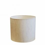 Cúpula em Tecido Cilindrica Abajur Luminária Cp-4113 30x25cm Linho Bege
