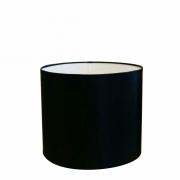 Cúpula em Tecido Cilindrica Abajur Luminária Cp-4113 30x25cm Preto