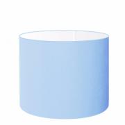Cúpula em Tecido Cilindrica Abajur Luminária Cp-4146 40x30cm Azul Bebê