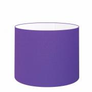 Cúpula em Tecido Cilindrica Abajur Luminária Cp-4146 40x30cm Roxo