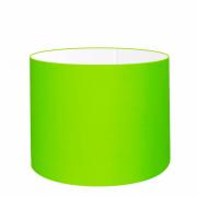 Cúpula em Tecido Cilindrica Abajur Luminária Cp-4146 40x30cm Verde Limão