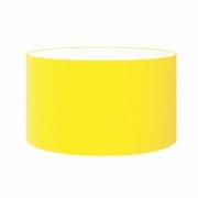 Cúpula em Tecido Cilindrica Abajur Luminária Cp-4189 50x30cm Amarelo