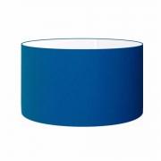 Cúpula em Tecido Cilindrica Abajur Luminária Cp-4189 50x30cm Azul Marinho