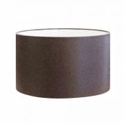 Cúpula em Tecido Cilindrica Abajur Luminária Cp-4189 50x30cm Café