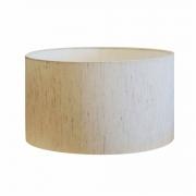 Cúpula em Tecido Cilindrica Abajur Luminária Cp-4189 50x30cm Linho Bege
