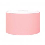 Cúpula em Tecido Cilindrica Abajur Luminária Cp-4189 50x30cm Rosa Bebê