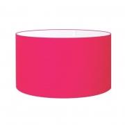Cúpula em Tecido Cilindrica Abajur Luminária Cp-4189 50x30cm Rosa Pink